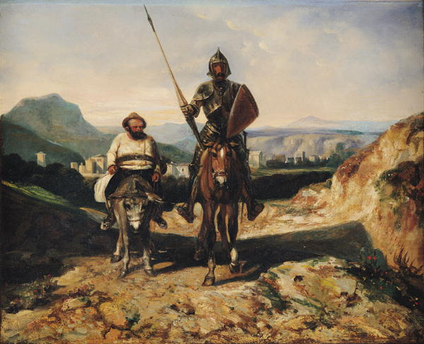 Don Quixote and Sancho xx Alexandre Gabriel Decamps